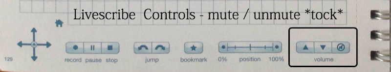 Livescribe Controls - mute