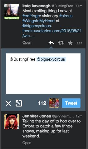 TweetDeck Reply