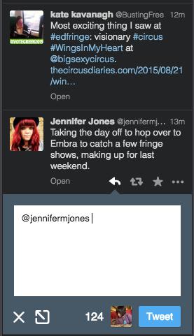 TweetDeck relying to Jen